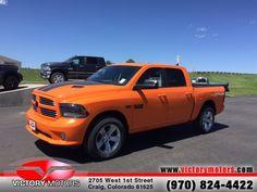 2015 RAM 1500 Sport Crew Cab Truck Ignition Orange