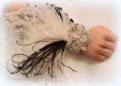 1920s Great Gatsby prom wedding flapper style wrist by Hairfetti, $48.50