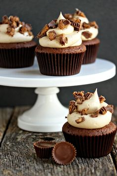 Peanut Butter Cup Cupcakes | My Baking Addiction