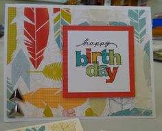 This card features the Free To Be Me Paper Packet, White Daisy Cardstock, Archival Ink Stamp Pad, Heartfelt Birthday Wish Mini Stamp, CTMH Alcohol Markers and Durables Triangle Studs. Created by Denise Tarlinton http://scrapstampshare.blogspot.com.au