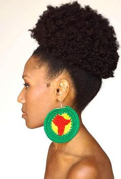 Can't wait until my puff is this big! Love my natural hair!