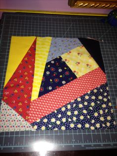 Block for my quilt. Made August 14,2016