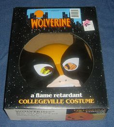 WOLVERINE HALLOWEEN COSTUME 1992 COLLEGEVILLE BOXED AND UNUSED CLEAN TOT