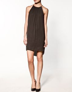 STUDIO DRESS by Zara. I think it would go good with leggiings and tall boots! $129.00
