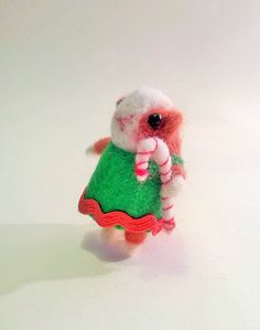 Unique Needle felted Guinea Pig Christmas Helper - Christmas Decoration Designed and handmade by Marjorie Makes  This little helper is made from