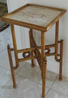 Refinished antique table - what a unique design  #home #decor  #refinish
