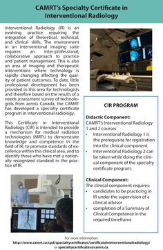 CAMRT's Specialty Certificate in Interventional Radiology