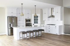 """""""One of the things I focus on most is finding the perfect flooring,"""" said Katelyn. """"I did a ton of research and fell in love with Hallmark Floors.""""  Floor is Malibu from our Alta Vista Collection."""