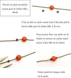 Mon bijou facile: Tutoriel chaîne bille