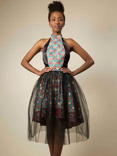 Bukola Hidden African Print Tulle Skirt by saintola on Etsy