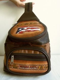 Vintage Puerto Rico Leather Backpack