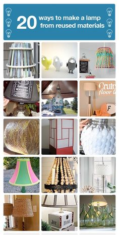 20 ways to make a lamp from reused materials! ...like the one made with recycled used coffee filters!