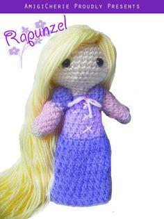 Crochet Doll  Fairytale  Tangled Inspired Rapunzel by AmigiCherie, $35.00