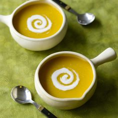 Pumpkin Soup with Ginger Cream Recipe