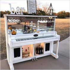 piano re-purposed into a bar. - Old upright piano re-purposed into a bar.Old upright piano re-purposed into a bar. - Old upright piano re-purposed into a bar. Vintage Griffith Baby Grand Piano book shelf wine bar by TheWoodenLaboratory on Etsy HomelySmart Bar Furniture, Piano Decor, Redo Furniture, Old Pianos, Bars For Home, Repurposed Furniture, Home Coffee Stations, Home Diy, Upcycled Home Decor