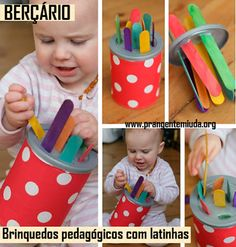 Baby Sensory, Sensory Play, Baby Play, Montessori Sensorial, Montessori Activities, Infant Activities, Activities For Kids, Oi Gente, Infant Lesson Plans