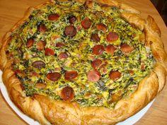 La buona cucina di Katty: Torta rustica con spinaci, prosciutto e wurstel