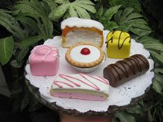 TEA ROOM CAKE SELECTION FAKE FOOD ARTIFICIAL PROP,WINDOW DISPLAY, DECOR A5 in Collectables, Advertising, Food | eBay!