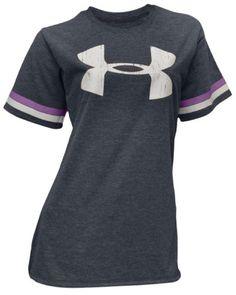 Under Armour Women's Big UA logo Heatgear Shirt-Gray « Clothing Adds Anytime
