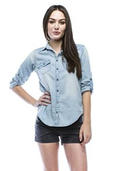 6e6636fbf3f3600a7cb8b836e70ab125 denim shirts chambray spruce up the traditional waiter uniform of a dress shirt and,Noble U Womens Clothing