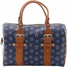 Dallas Cowboys Ladies Annabella Italian Made Handbag - Navy Blue