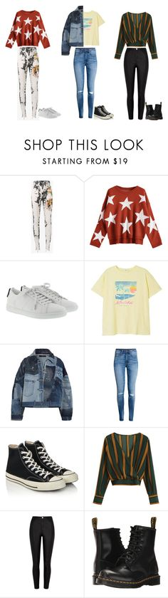 """""""BTS's DNA Inspired Outfits"""" by nataliaace ❤ liked on Polyvore featuring Gucci, Yves Saint Laurent, MANGO, Dolce&Gabbana, H&M, Converse, River Island and Dr. Martens"""