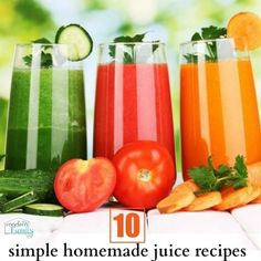 10 simple homemade juice recipes for beginners | Your Modern Family probably should start juicing again