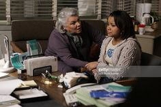 'The New Normal' Maxine (Tyne Daly, left) tries to teach a sexually promiscuous teenager (Cherelle Noyd, right) the dangers of having un-protected sex, on JUDGING AMY, scheduled to air on the CBS Television Network.