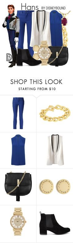 """""""Hans"""" by leslieakay ❤ liked on Polyvore featuring Alexander McQueen, Adele Marie, M&Co, Topshop, Marc by Marc Jacobs, Michael Kors, Juice, disney, disneybound and frozen"""