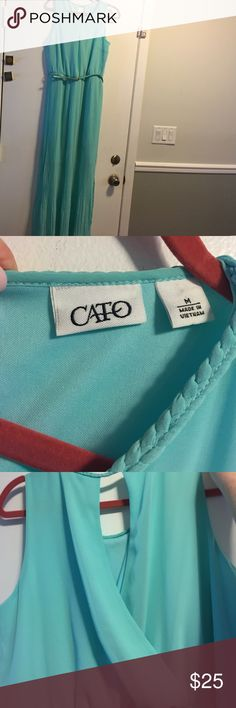 Teal maxi dress from Cato This dress has only been worn two times! In very good condition! Could be used as a homecoming dress! It has a slits up both sides! Cato Dresses Maxi