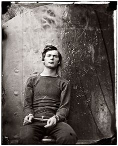 Lewis Powell, one of the Lincoln assassination conspirators, awaiting his execution, 1865
