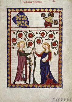 Zürich Buchmalerei - Codex Manesse, Herr Berenge v. Horheim