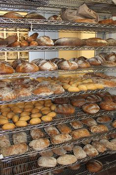 A variety of breads cool in our bread kitchen. (Day It's Bread 'o-clock! Pan Bread, Bread Baking, Dutch Recipes, Bread Recipes, Croissants, Typical Dutch Food, Yeast Dough Recipe, Pastry Display, Bread Kitchen