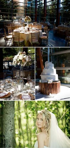 Rustic, natural light banquet decoration