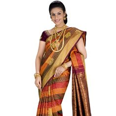 Buy Sudarshan Silks Multi Silk Saree by Sudarshan Silks, on Paytm, Price: Rs.9958?utm_medium=pintrest