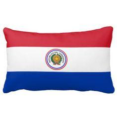 Paraguayan flag pillow