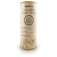 Roll of 20 Reusable Paper Towels made out of Bamboo Fibers. The Bamboo Towels can be reused many times and composted! Zero Waste in the Kitchen. Compost, Whiteboard, To Go Becher, Papier Absorbant, Kitchen Towels, Biodegradable Products, Household, Zero Waste, Paper Towels