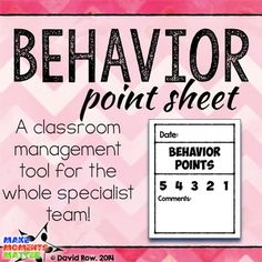Specials Behavior PointsThis behavior point sheet makes transitions seamless and lets us give a simple rating (we circle one of the five numbers) for the class and jot down a quick note to teachers if necessary.