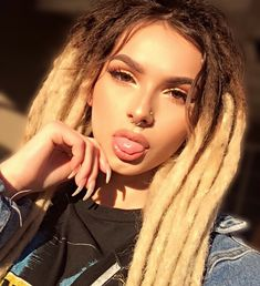 Photo by Zhavia on November Image may contain: 1 person Thick Dreads, Blonde Dreadlocks, Dreads Girl, Pretty People, Beautiful People, Beautiful Dreadlocks, Dread Hairstyles, Spring Looks, Tumblr Girls