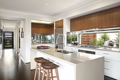 Clarendon Homes.  Paddington City 30.  Beautiful island bench & view of butlers pantry.