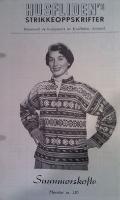 Sunnmørskofte 210 Norwegian Knitting, Nordic Style, Old Pictures, Color Combinations, Knitting Patterns, Knit Crochet, Men Sweater, Retro, Jumpers