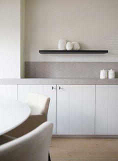 Interior Design Kitchen, Kitchen Decor, Interior Decorating, Oak Cupboard, White Countertops, Küchen Design, Home Kitchens, Kitchen Remodel, House