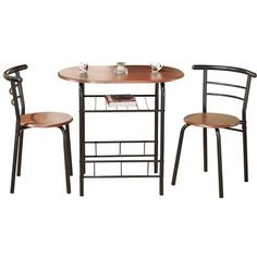 Volmer 3 Piece Compact Dining Set Dining Nook In 2019 Small Kitchen Tables Dining Room Sets