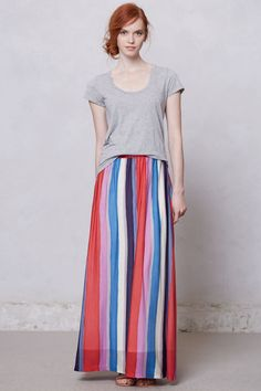 Vertical Paint Maxi Skirt - Anthropologie.com