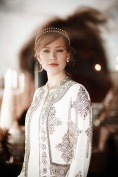 Dress by Debut @debenhams; embellished velvet coat by Eliza Jane Howell @elizajanehowell | Photograph by @wendy