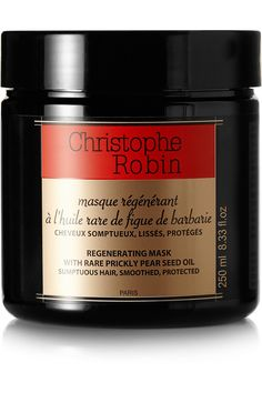 Christophe Robin's Regenerating Mask with Rare Prickly Pear Seed Oil Hydrating Hair Mask, Hydrating Shampoo, Robin, Best Hair Mask, French Beauty, Leaf Flowers, Fragrance Parfum, Smooth Hair, Tips