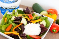 Try a mixed greens salad with a lighter topping of cottage cheese to start your new year off right.
