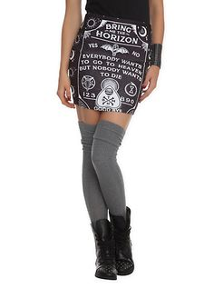 Bring Me The Horizon Ouija Board Contour Skirt | Hot Topic