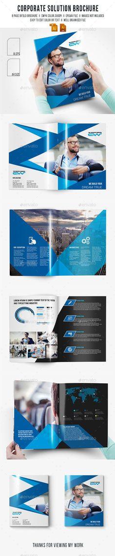 Corporate Solution Brochure Template #design Download: http://graphicriver.net/item/corporate-solution-brochure/11654017?ref=ksioks: