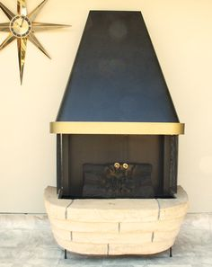 Vintage fireplace electric 50s metal heater space age eames mid ...